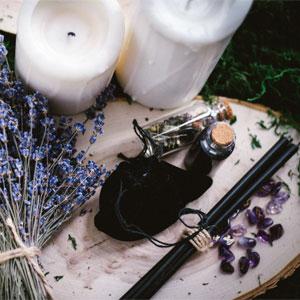Magickal Tools & Ingredients on Pagan Altar