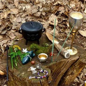 Outdoor Pagan Altar