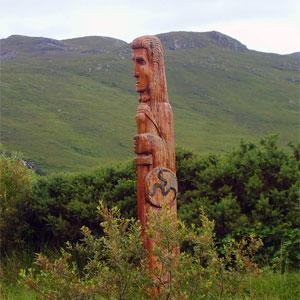Statue of Celtic god, Lugh