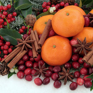 Yule Fruit, Spices, and Pinecones